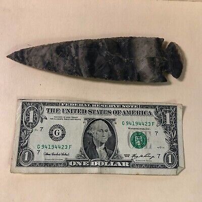 "6 3/4"" Flint Spearhead Arrowhead OH Collection Project Point Napped Well Made!"