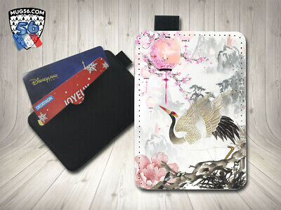 petit porte cartes card holder - asiatique asian japon 010 grue