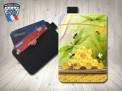 petit porte cartes card holder - abeilles miel 004
