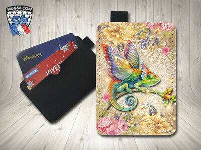 petit porte cartes card holder - caméléon 001