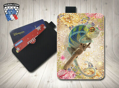 petit porte cartes card holder - caméléon 002