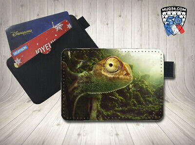 petit porte cartes card holder - caméléon 003