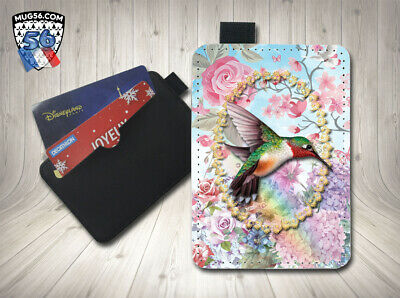 petit porte cartes card holder - colibri 001 hummingbird
