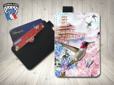 petit porte cartes card holder - colibri 003 hummingbird