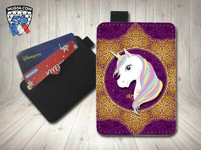 petit porte cartes card holder - licorne unicorn 04