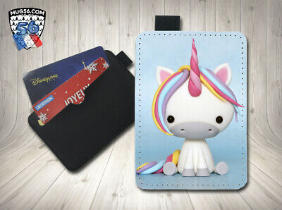petit porte cartes card holder - licorne unicorn 05