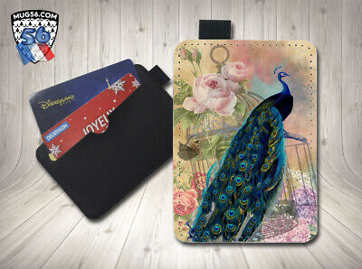 petit porte cartes card holder - paon 01
