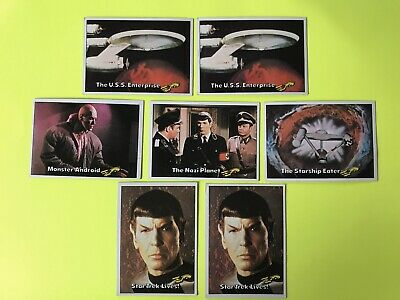 Lot of 7 Star Trek Cards Topps 1976 Series with Spock