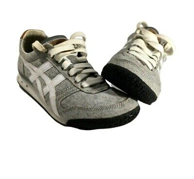 Asics Onitsuka Tiger Ultimate 81 Womens Sz 5 Gray and White Running Shoes D617N