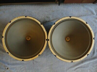 """1959 Jensen P15Q Pair, Clean, All Code Matched 8 Ohm 15"""" Speakers"""