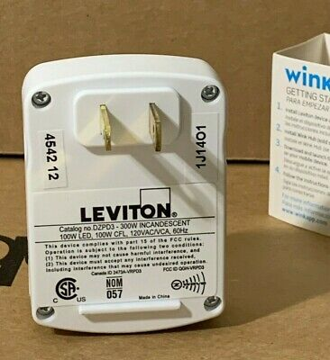 Leviton Smart Plug-in Outlet with Z-Wave Technology R02-DZPD3-1LW, White