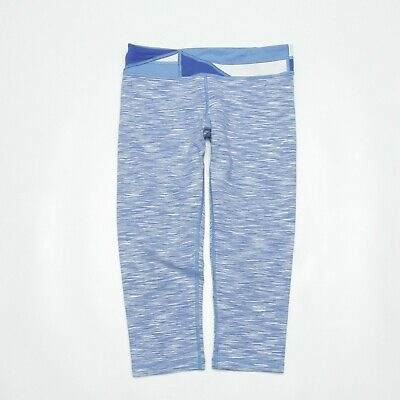 Ivivva Girls Leggings Capri Crop Size 14 Blue Active Stretch