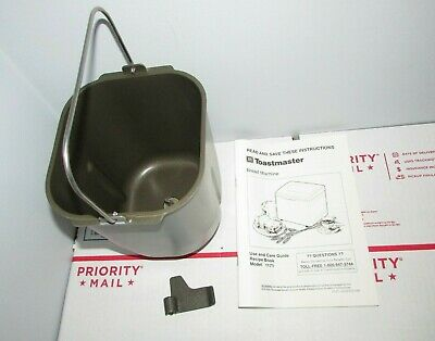 Toastmaster Model 1171 Bread Maker Machine Replacement Pan Paddle Instructions