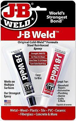 J-B Weld 8265S Original Cold-Weld Steel Reinforced Epoxy 2 oz. New Free Shipping