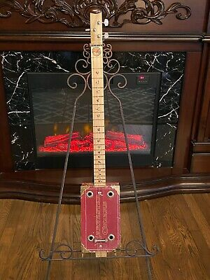 Handcrafted Cigar Box Slide Guitar-Vintage Cigar Box with Peace Theme