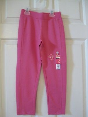 Girls Leggings size 7 Pull On Pants Pink Ottoman Panel New NWT