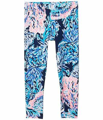NWT Lily Pulitzer Girls Maia Leggings HIGH TIDE NAVY Sz Large