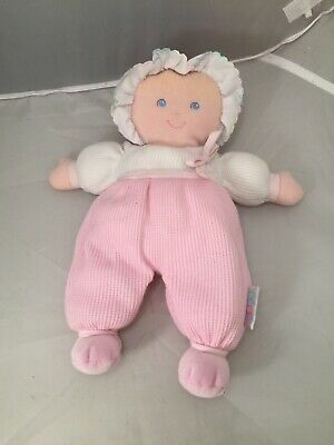 "EDEN BLONDE 11"" BABY DOLL PINK THERMAL STUFFED PLUSH TOY SOFT Lovey"