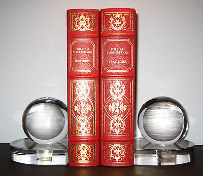 STEUBEN glass ART DECO GLOBE BOOKENDS TEAGUE CARDER Machine Age 1930 moderne mcm