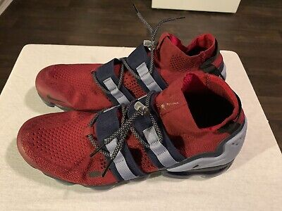 Nike Air VaporMax FK Utility Men's sz 12.5 Team RED BLACK OBSIDIAN AH6834-600