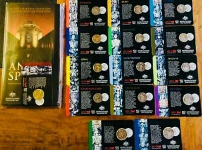 Official 2018 ANZAC SPIRIT COIN Collection Full Set 15 Coins with Folder Album