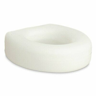 Portable Raised Elevated Toilet Seat Plastic Lightweight White 4 Inches