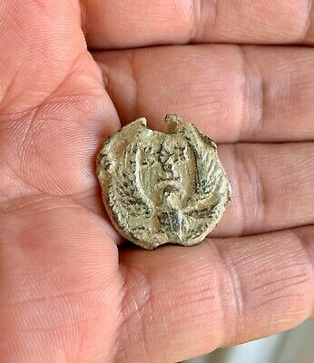 Byzantine lead seal/bleisiegel of Tarasios honorary eparch (8th cent.).Splendid!