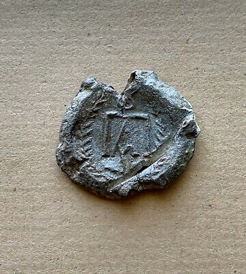 Byzantine lead seal/bleisiegel of Paul officer (7th cent.). Very nice piece!