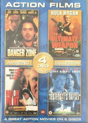 4 Film  DVD Danger Zone / The Ultimate Weapon/  Hollow Point /Yesterday's Target