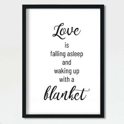 Love Quotes Poster Partners Couples Friends Print Wall Art Bedroom Sweet Gift