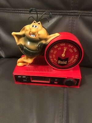 Raid 1980's Clock Radio In Good Working Order