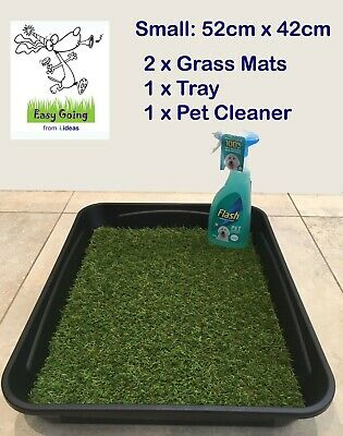 EASY GOING Indoor Dog Puppy Pet Grass Toilet Loo Potty Training Mat Pad Tray - S