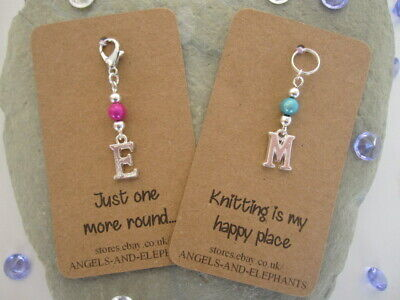 Stitch Marker  Personalised, Crochet, Knitting Markers, Initial Mothers Day Gift