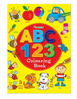 Squiggle ABC 123 Colouring Book A4 Size - Numbers Alphabet Fun Practice Book