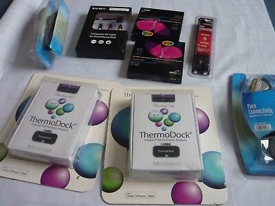 Electronics job lot leads bundle thermodock iphone hard drive cases nikkai scart