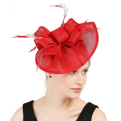 Fascinator Red Burgundy Wine Rose Ruby Coral Maroon Dark Light Hat Head Piece