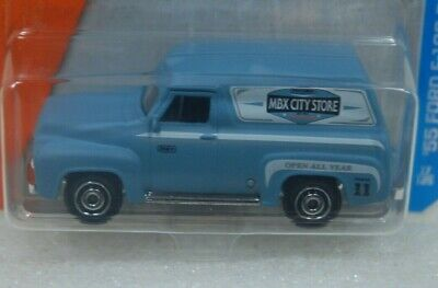 2017 Matchbox #17 /'55 FORD F-100 DELIVERY TRUCK☆blue;City Store☆Adventure☆Case A