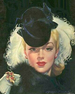 Red Feathers and a Cracker by Bradshaw Crandell Art Print of Vintage Art
