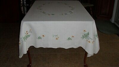Vintage Tablecloth Hand Stitched