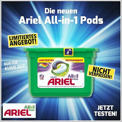 12x ARIEL All in 1 Pods 30g Color Waschmittel - 13WL