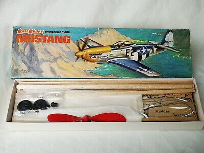 Keil Kraft Mustang Flying Scale Model Kit Aircraft Boxed