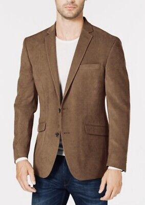 NWT KENNTH COLE REACTION Sz 40L Mens Slim Fit Ultra Suede Sport Coat Jacket $295