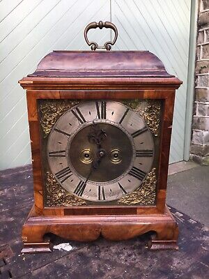 Early Walnut Bracket Clock Chaplin Ashby