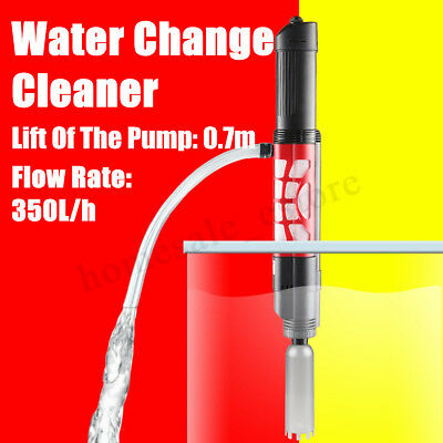 Electric Aquarium Clean Vacuum Water Change Gravel Cleaner Fish Tank Siphon Pump