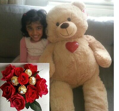 Giant Large Teddy Bear  Valentines Day Gift Ferrero Rocher Chocolate Bouquet