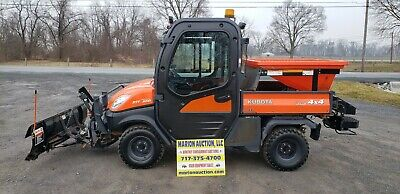 2013 Kubota RTV 1100 Fully Loaded Cab!! Only 844 Hours!! Snow Plow And Spreader!