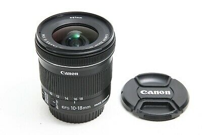 Canon EF-S 10-18mm f/4.5-5.6 IS STM Lens EX++ EOS DIGITAL Camera 7D 80D Rebel l