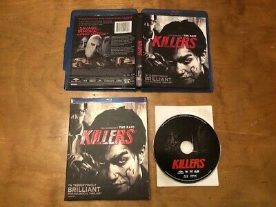 Killers Blu ray*Well Go USA Ent*Rare Slipcover*Foreign Psychological Thriller*