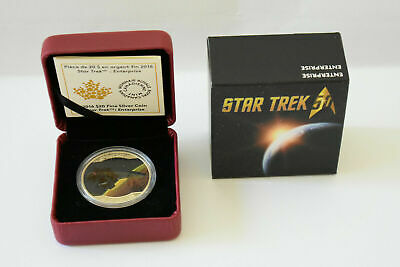 Star Trek: Enterprise 50th Anniversary $20 Fine Silver Coin 2016 Canada Mint NIB