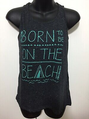Girls Xhilaration Gray 'Beach' Active Wear Tank Top Size XL 14/16